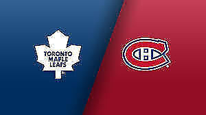 Toronto vs Canadiens at Bell Center - 4 Ticks -Section 115 row D