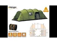 SOLD - Spacious Vango Tigris 800 Tent, side extension, Carpet and Footprint