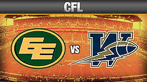 Edmonton Eskimos vs. Winnipeg Blue Bombers SAT Sep 30 7:30PM