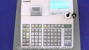 CASH REGISTER - CASIO PCR T480, USED, PROGRAMMED, KEYS, THERMA