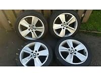 -- GENUINE SEAT LEON FR ALLOYS + TYRES --