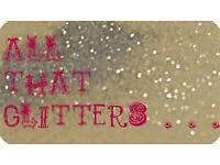 """""""All that glitters"""" GLITTER TATTOO ARTIST"""