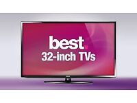 """32""""tv selling for £80 with guaranteed"""