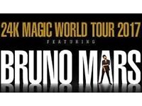 Pair of Bruno Mars tickets. O2 London Saturday. Great top price, lower tier seats. Block 113