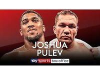 Joshua v Pulev boxing tickets x 6 in Cardiff principality stadium (millennium)