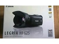 LEGRIA HF G25 HD Camcorder unused as new with DM 100 microphone