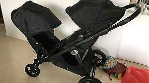 Poussette double baby jogger City select all black