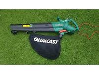 Qualcast garden vac, used twice