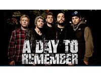 A Day To Remember Ticket