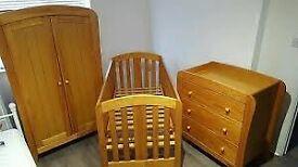 Mamas And Papas Fern Solid Pine Nursery Furniture Set