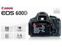 Canon EOS 600D Body - 18 mega pixel - REDUCED PRICE