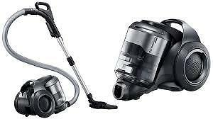 SAMSUNG MOTIONSYNC BAGLESS CANISTER VACUUM WITH POWER BRUSH