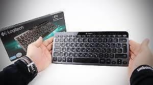 Logitech Bluetooth Illuminated Keyboard K810 for PCs, Tablets, Smartphones - Black (920-004292)