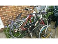 wanted any free non working or damaged mountain bikes or parts any thing considerd will collect