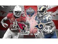 2 x NFL Tickets - Arizona Cardinals vs Los Angeles Rams!! - 22nd October 2017!! Twickenham!