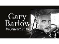 2 x Standing Tickets - Gary Barlow, De Montfort Hall - Thursday, 26th April 2018