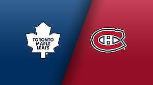 1 Billet Canadiens vs Maples Leafs samedi 18 novembre