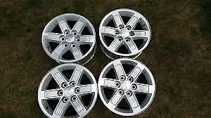 "Looking for 17"" Rims for 2008 GMC Sierra. Steal or aluminum ."