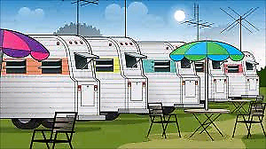Looking for trailer in park