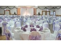 £.50p! £.50p!! £.50p!!!Quality Lycra Chair cover with sashes Hire in North west Area (Manchester)