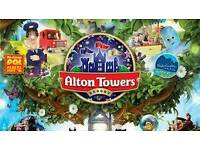 4 x Alton towers tickets choose any date