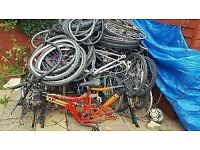 WANTED any free mountain bikes or parts frames wheels or parts will take anything try me