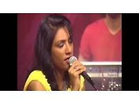 Female Bollywood singer for weddings, parties etc