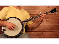 banjo 5 string prefer open back wanted cheap to learn to play on
