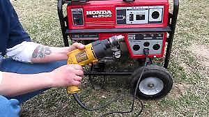 HONDA 3500 Watt GENERATOR   Recent Service  for framing ........