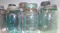 Wanted - Antique / Vintage Fruit Jars/Any Colour-TOP Dollar Paid