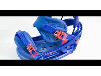 burton cartel snowboard bindings (medium) - used for one week only (reflex discs)
