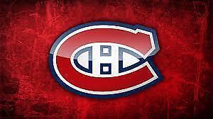 Canadiens Toronto 8 billets collés Zone Famille 427D