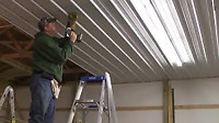 POLE BARN STEEL CEILING
