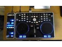dj controller vestax vci 300 mk 2 and effects pad