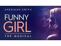 Funny Girl tickets x 2, Stalls S13-14, starring Sheridan Smith. £65 each Friday August 5. 7.30pm.