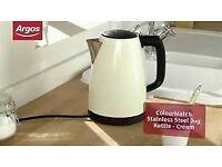 ColourMatch JK41652 Stainless Steel Jug Kettle - in cream