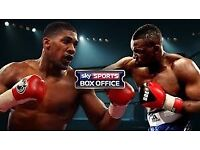 2 X TICKETS FOR ANTHONY JOSHUA VS CARLOS TAKAM, ALSO DILLAN WHYTE