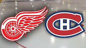tickets/bus to go see red wings vs canadiens