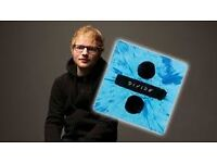 Ed Sheeran Tickets 2/4 FRONT ROW SEATS UPPER TIER BLK 401 row A o2 Arena Lon Wed 3rd May £400 a PAIR