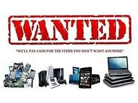 laptops , phones, tvs, sat nav , cash ready , will collect