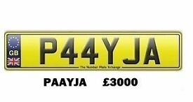 **P44YJA** Asian Name Number Plate For Sale!!