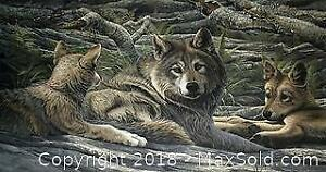 """Lawrence Dyer """"Spring Wolves"""" Open edition print"""