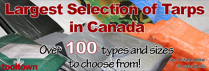 Largest Selection of Tarps in Canada