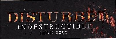 Disturbed Indestructible RARE promo stickers (3 different) + Believe tattoo '08