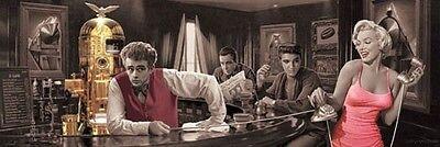 James Küche (Poster Java Dreams Chris Consani Bar Monroe Elvis Presley James Dean 53 x 158 cm)