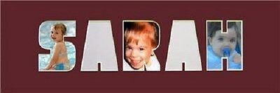 Word Baby Names (Baby Name Sarah Personalized Photo Word Picture)