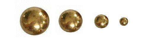 """260 Brass Solid Balls 3/8"""" Dia. +/-.001"""", 25 Pcs"""