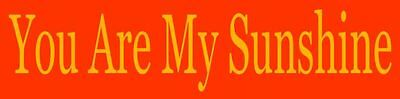You Are My Sunshine Stencil (REUSABLE STENCIL ITEM 5932 C ~4