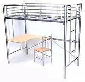 KING SINGLE BUNK BED WITH BUILT-IN DESK IN NEW CONDITION Woolloomooloo Inner Sydney Preview