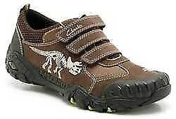 Brand new in box Clarks leather dinosaur shoes/trainers (SIZE 2.5 G)